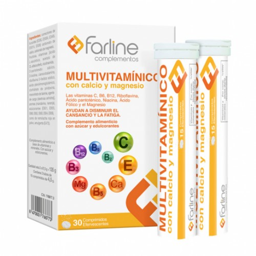 Multivitaminico farline comp efervescentes (30 comprimidos)