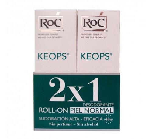 Roc keops desodorante sin alcohol (roll-on 30 ml) Duplo
