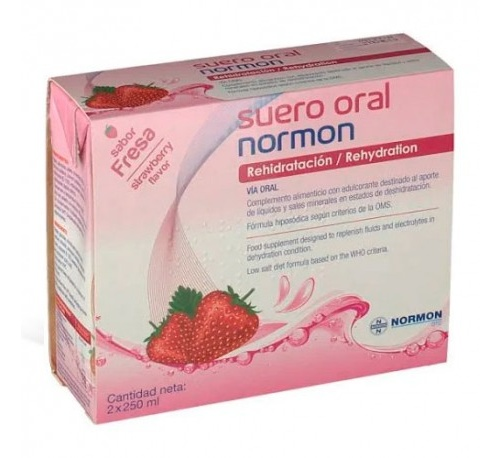 SUERO ORAL NORMON PACK (FRESA 250 ML 2 U)