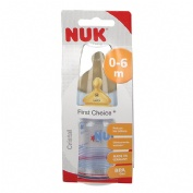 BIBERON CRISTAL LATEX - NUK FIRST CHOICE (1M 120 CC)