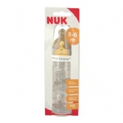 BIBERON PP LATEX - NUK FIRST CHOICE (300 CC LECHE T-1 M)
