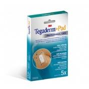 Tegaderm + pad - aposito esteril (5 x 7.2 cm 5 u)
