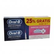 ORAL-B PRO EXPERT PROFESIONAL DIENTES SENSIBLES - PASTA DENTAL (125 ML 2 TUBOS)