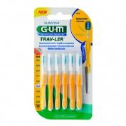 Cepillo interdental viaje - gum 1514 trav-ler (extrafino 1.3 mm conico 6 u)