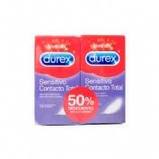 Durex sensitivo contacto total - preservativos (12 preservativos 2 cajas)