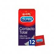 DUREX SENSITIVO CONTACTO TOTAL - PRESERVATIVOS (12 U)