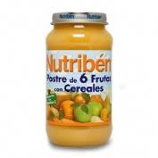 NUTRIBEN POSTRE DE 6 FRUTAS CON CEREALES (POTITO GRANDOTE 250 G)