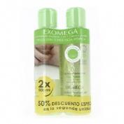 A-derma exomega control gel limpiador emoliente - 2 en 1 cuerpo y cabello (pack 2 x 500 ml)