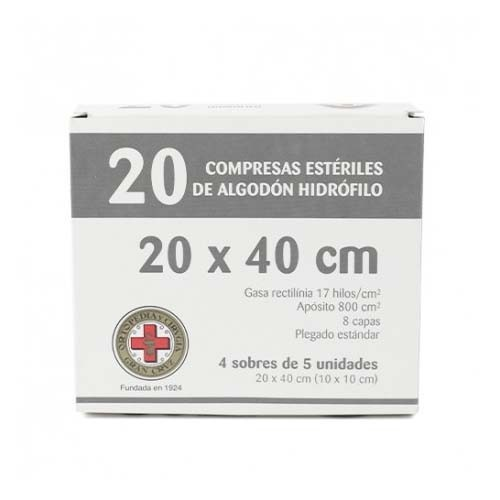 GASA ESTERIL ALGODON HIDROFILO COMPRESAS - GRAN CRUZ (SOBRE 5 U  20 U)