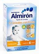 ALMIRON 5 CEREALES FRUTA 600GR