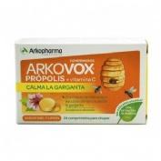 Arkovox propolis + vitamina c (20 comprimidos miel y limon)