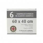 GASA ESTERIL ALGODON HIDROFILO COMPRESAS - GRAN CRUZ (SOBRE 3 U  6 U)