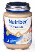 NUTRIBEN CENA CREMA VERDURA CON PAVO (POTITO JUNIOR 200 G)